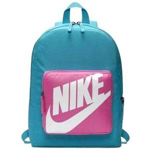 Nike Classic Kids Backpack Retro Style Blue & Pink